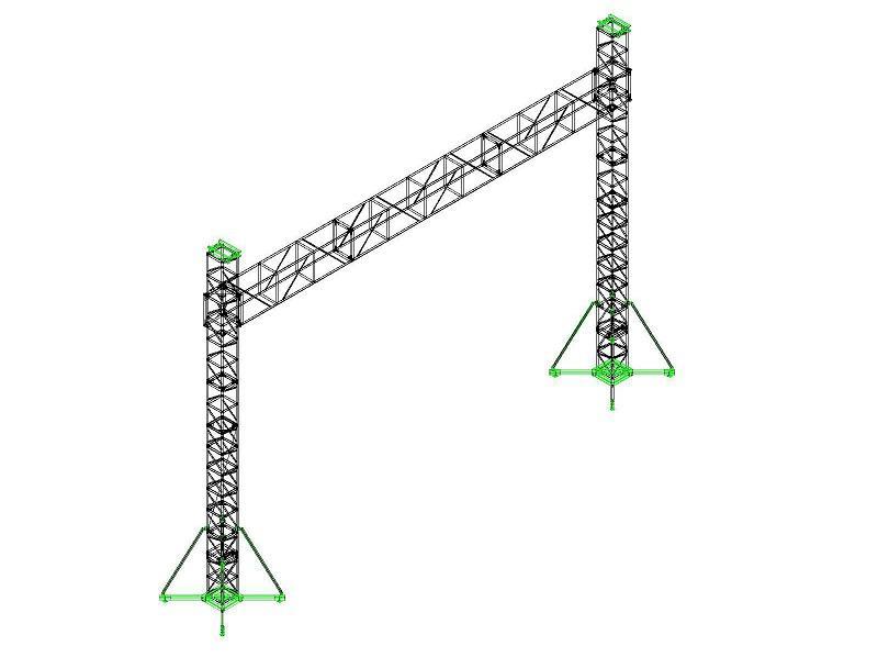 活动策划中的龙门架搭建