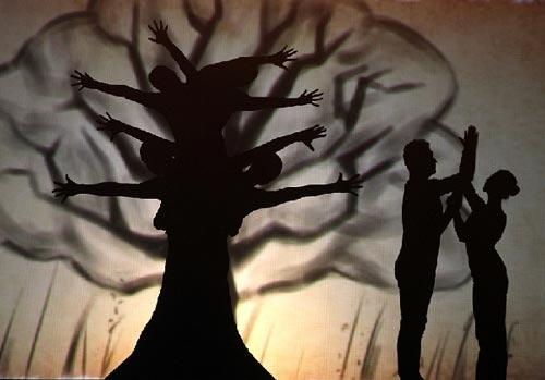 创意活动表演节目之影子舞