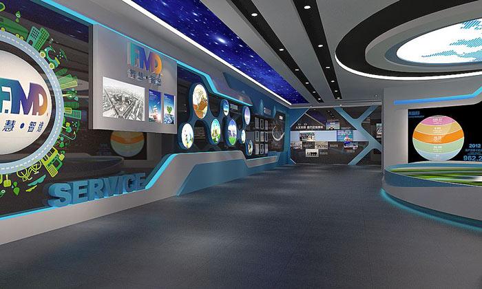 展会策划设计中展厅玻璃运用和灯光照明