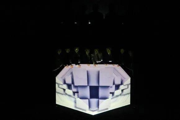 超具科技感的全息3D钻石启动仪式